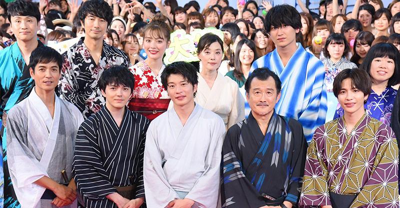 田中圭率眾演員穿浴衣宣傳《大叔之愛電影版》  浪漫分享與林遣都的「第一次」!