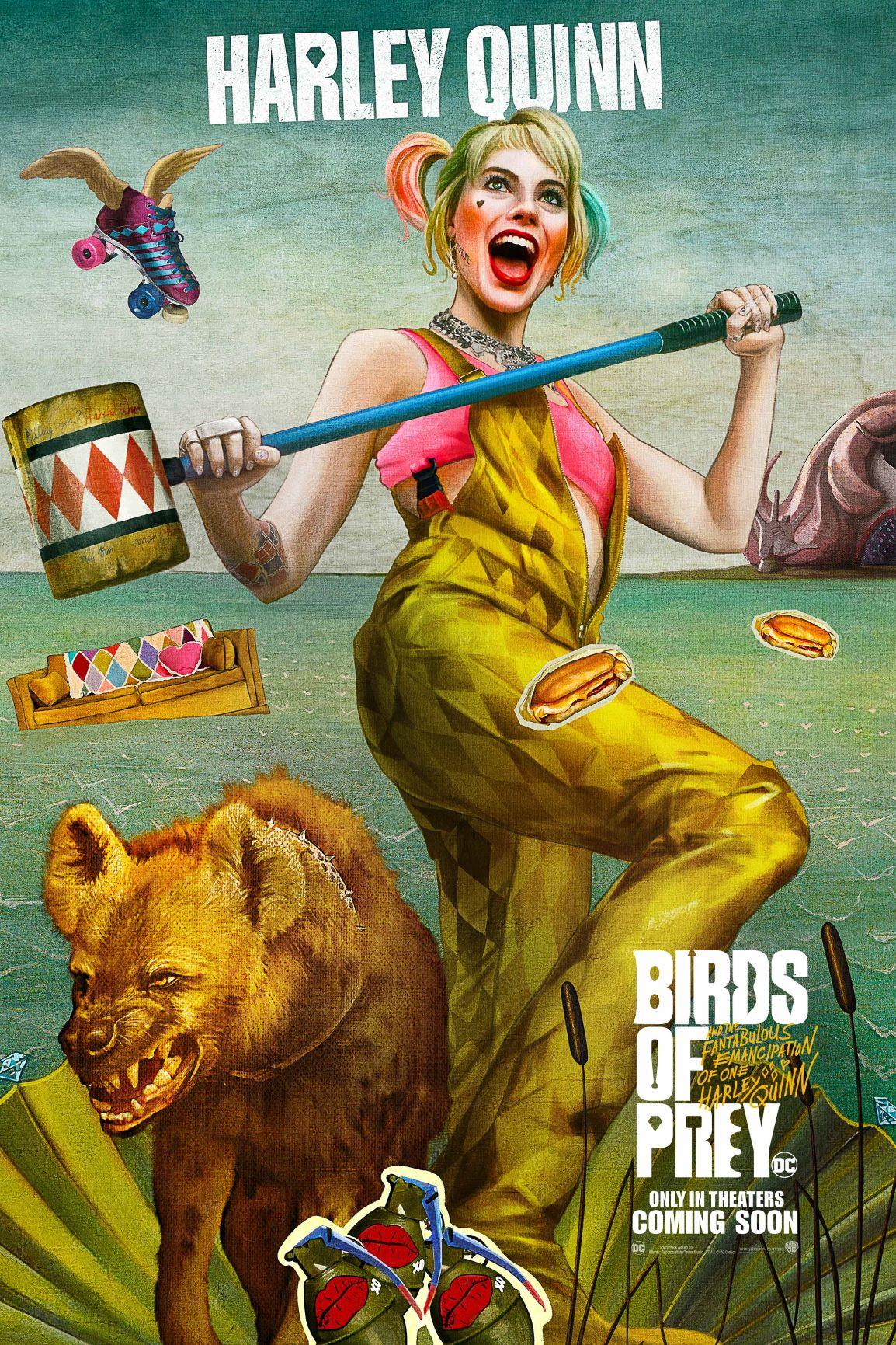 《猛禽小隊:小丑女大解放》電影主海報翻玩世界名畫 《維納斯的誕生》致敬愛與美的女神