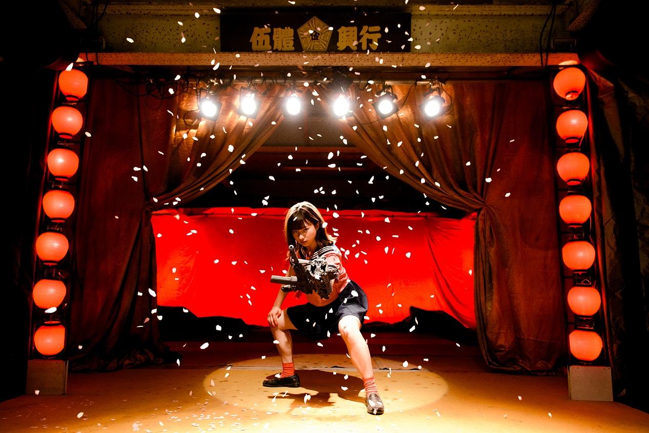 邪典電影《機關槍少女》極惡升級《爆裂魔神少女》暴力無上限 前「NGT48北原里英詮釋怪奇美女殺手