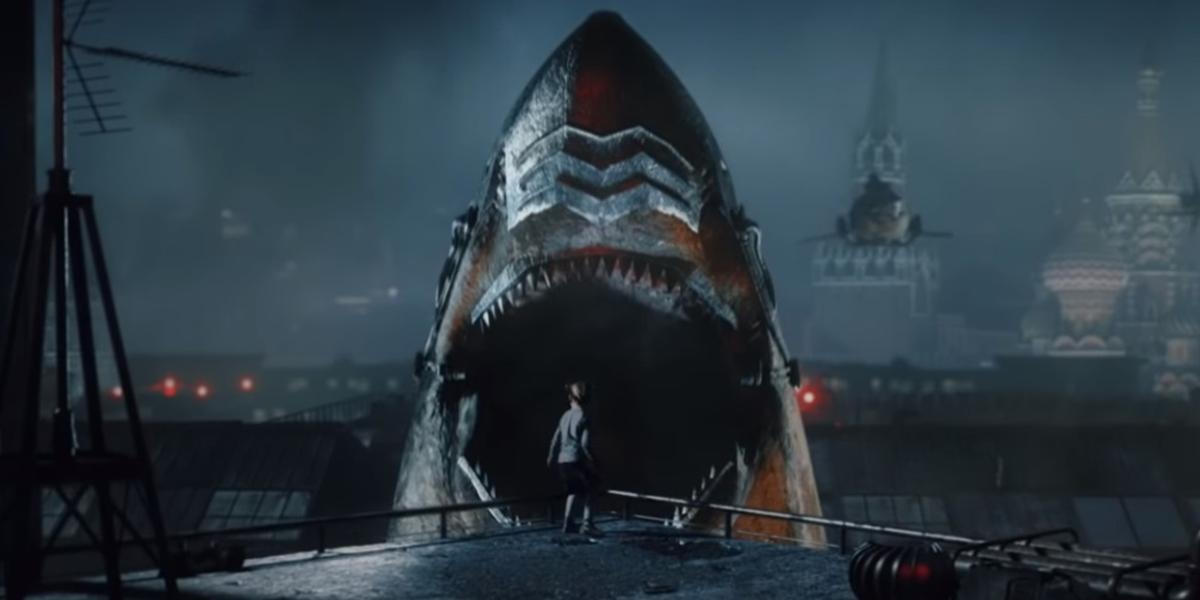 希特勒藏在極地之下的祕密武器全曝光!《天空鯊:納粹終極武器》納粹殭屍騎飛天鯊魚
